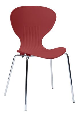 Piaza Poly Chair Burgundy Seat