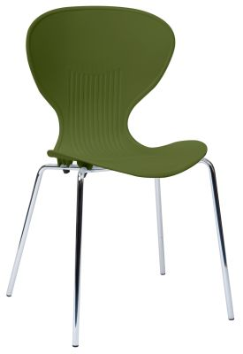 Piazza Poly Chair Olive Green Seat