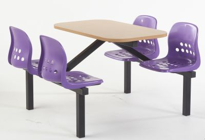 Paint Pot Four Seater Fast Food With Purple Seats And A Beech Tyop