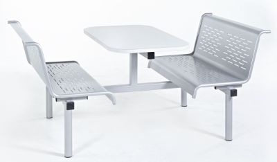 Blazer Bench Style Metal Canteen Units In Silver