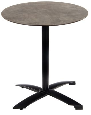 Kriss Kross Table With A Black Base And Concrete Effect HPL Top