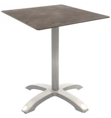 Toto Outdoor Table With A Square Concrete Effect Compact Laminate Top