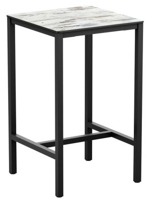 Mode Square Bar Height Table With A White Marble Top