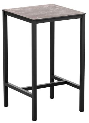 Mode Bar Height Square Table With A Hpl Marble Top