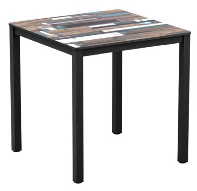 Mode Table With A Driftwood Hpl Laminate Top