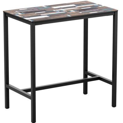 Mode Rectangular Bar Height Table