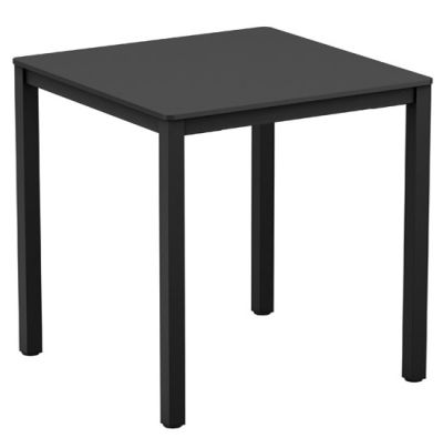 Mode Square Outdoor Table With A BLack HPL Top