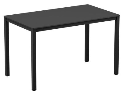 Mode Rectangular Table With A Black HPL Top