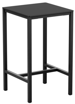 Mode Square Bar Height Table With A Black HPL Top
