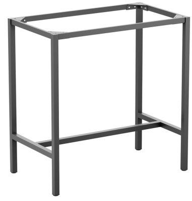 Mode Rectangular Outdoor Bar Height Table Base In A Dark Grey Finish