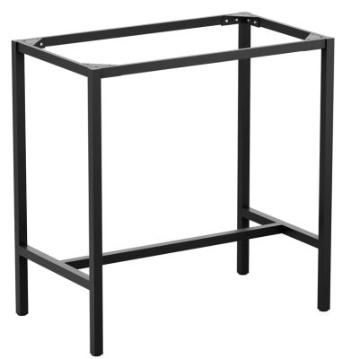 Mode Rectangular Outdoor Bar Height Table Base In Black