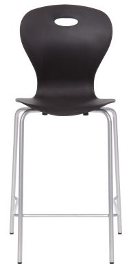 Solar Mid Height High Stool With A Black Shell Front View