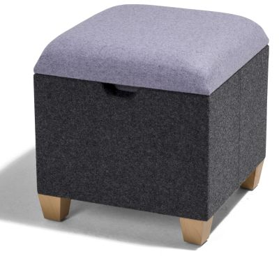 Kujo Square Stool With Wooden Feet