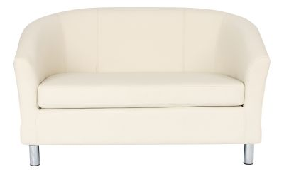 Tritium Two Seater Sofa In Cream Front View