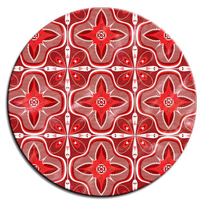 Faience Rouge Round Table Tops