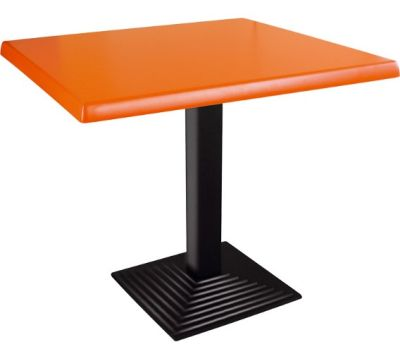 Complete Table Wit A Square Orange Top
