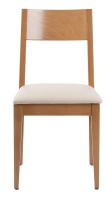 Orion Dining Chair In Oak With A Cream Leather Seat