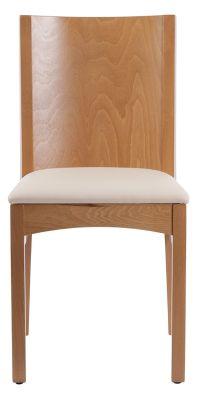 Sirious Chair In Oak Cream Lesather Seat