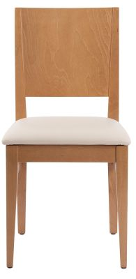 Aurora Chair In Oak With A Cream Leather Seat