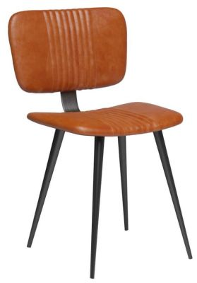 Curzo Tan Leather Chair