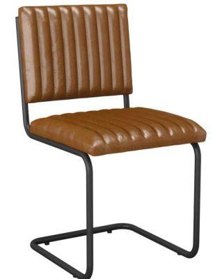 Opto Vintage Tan Leather Chair Angle View