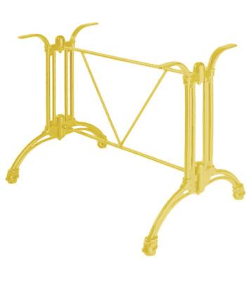 Continental Aluminium Rectangular Table Base Ivory