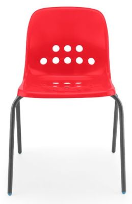 Pepperpot Chair In Red Front View