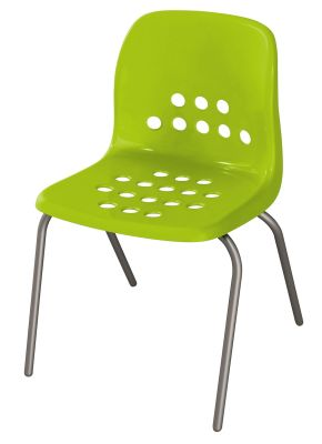 Pepperpot Chair In Green Front Angle View