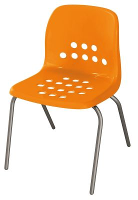 Pepperpot Chair In Orange Front Angle View