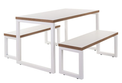 Rawling Bench Set White & White