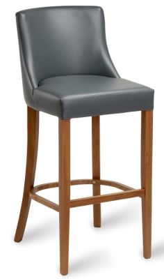 Fortey Leather High Stools Grey
