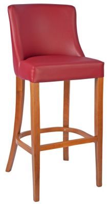 Fortey Leather High Stools Burgundy