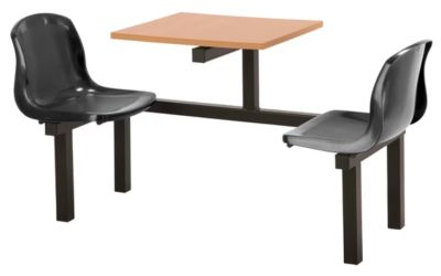 Totnes Fast Food Unit 2 Seater Black Beech