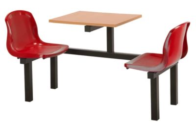 Totnes Fast Food Unit 2 Seater Red Beech