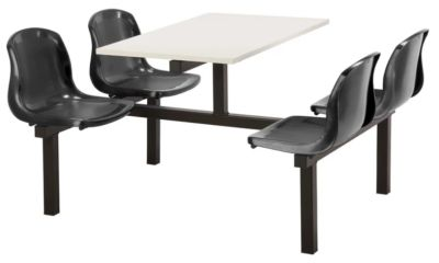 Totnes Fast Food Unit Double Sided 4 Seater Black White