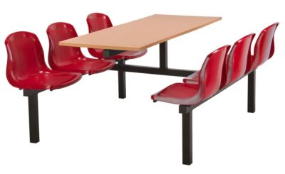 Totnes Fast Food Unit Double Sided 6 Seater Red Beech