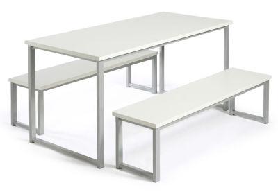 MIDAS BENCH DINING SETS WHITE