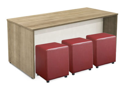 Bench Set With Low Stools