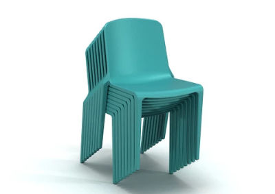 Hatton Chair Stack Aqua