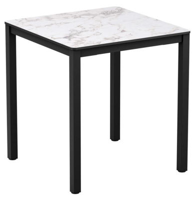 4-leg White Marble Square Dining Table