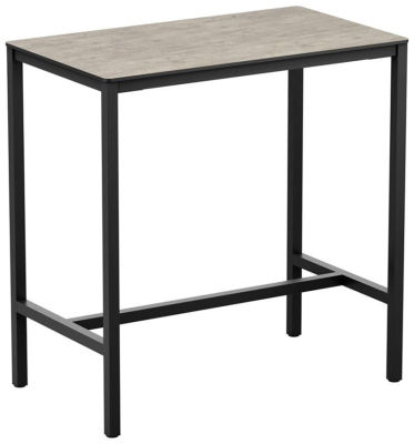 4-leg Textured Cement Rectangular Poseur Table