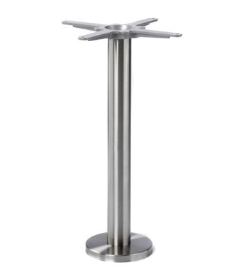 Strident Dining Height Table Base - Stainless Steel