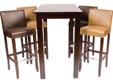 Wetherby Bar Stool And Wooden Poseur Table