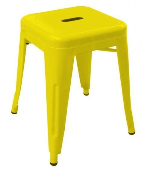 tolix coloured metal low stools v2 cafe reality
