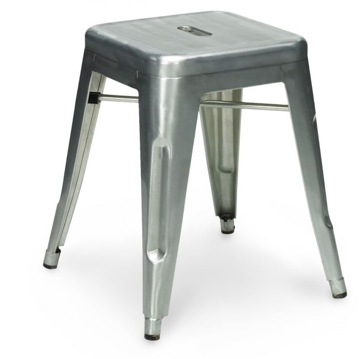Pleasant Tolix Low Metal Stools Gunmetal Gmtry Best Dining Table And Chair Ideas Images Gmtryco
