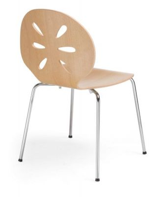 Designer Coloured Plywood Bistro Chair Rosa Cafe Reality