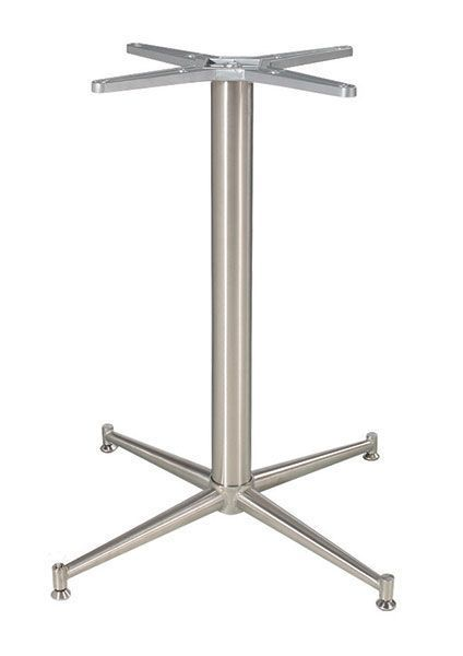 Brushed Stainless Steel Table Base Leg Zeus Cafe Reality - Cafe table legs