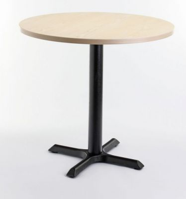 Cafe-Table-with-Circular-Top-and-Black-Base