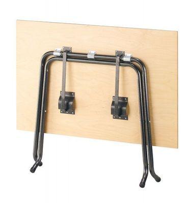 Heavy-Duty-Wood-Folding-table-with-Steel-Tubular-Frame