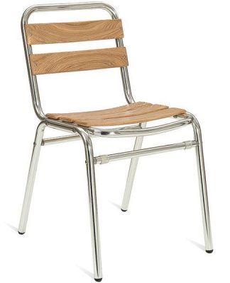 Outdoor-Aluminium-Chair-with-Teak-Slats
